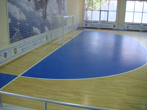 The work on laying the multi-purpose sports flooring to the amortization of