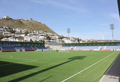 Reconstruction work of artificial grass on Bayil Arena