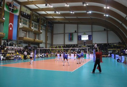 The village was built indoor volleyball Dernegyul Hall