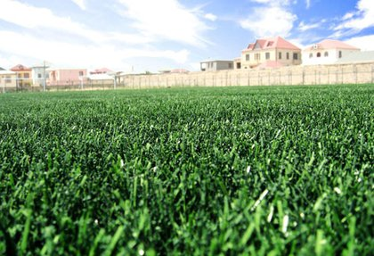 "Stadium and football field with artificial turf for FC ""Baku"""