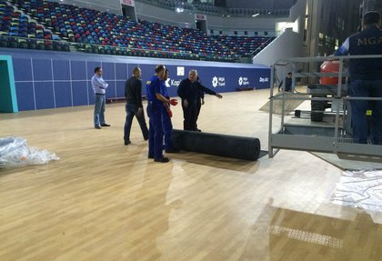 Taraflex floor covering for table tennis from Gerflor