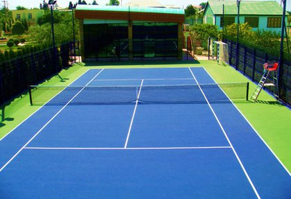 Reconstruction of tennis courts